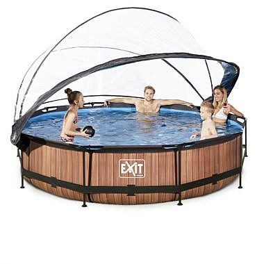 bassein 360cm koos katusega_30-32-12-10-exit-wood-pool-o360x76cm-with-dome-and-filter-pump-brown-4