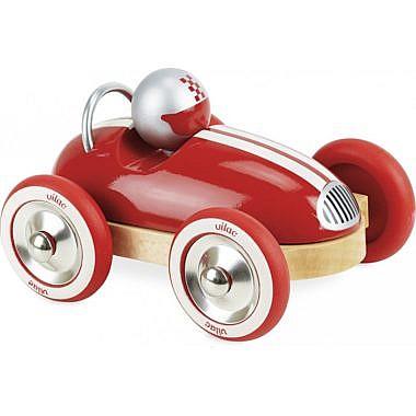punane puidust mänguauto_2332R